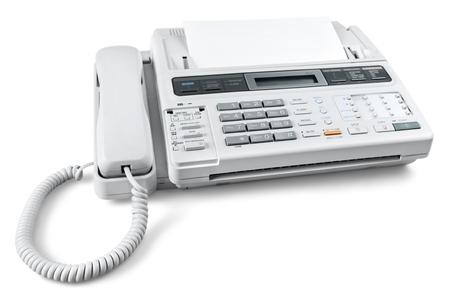Telefon und Faxgerät Standard-Bild