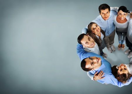 Teamwork young business