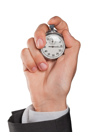 Businessperson Holding Stopwatch Stockfoto