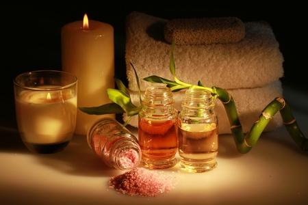 Still Life Aromatherapy Set Stock fotó