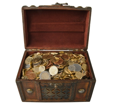 chest of coins Imagens