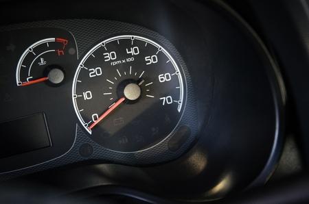 Car RPM And Engine Temperature Gauges