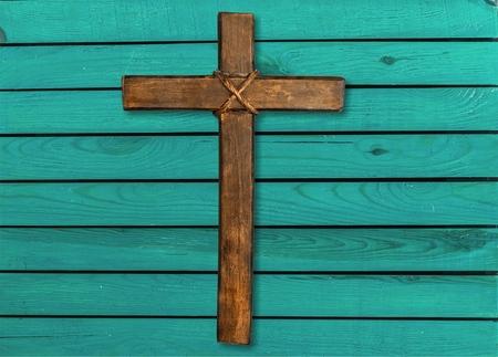 Holy wooden cross isolated on white background Reklamní fotografie