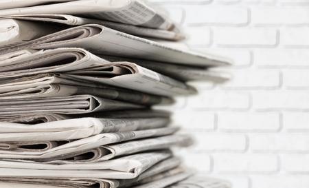 Pile of printed newspapers on background 版權商用圖片 - 107707719
