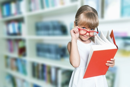 Education and school concept - little student Stok Fotoğraf