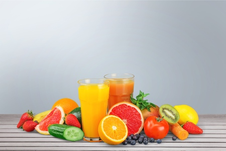 Healthy eating. Fruits, vegetables, juice