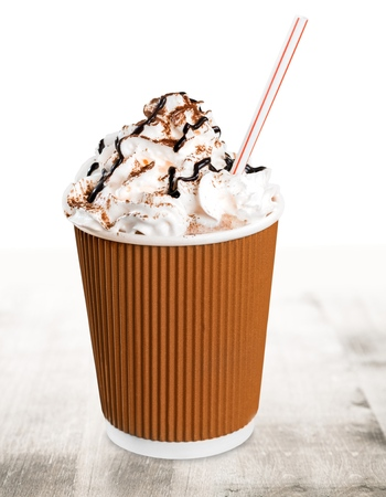 Frappuccino on white background