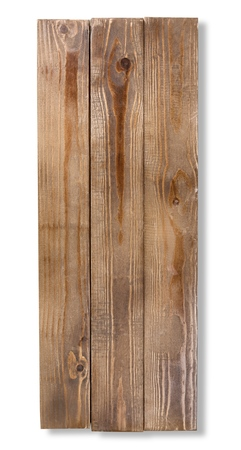 A piece of Wooden Plank Isolated
