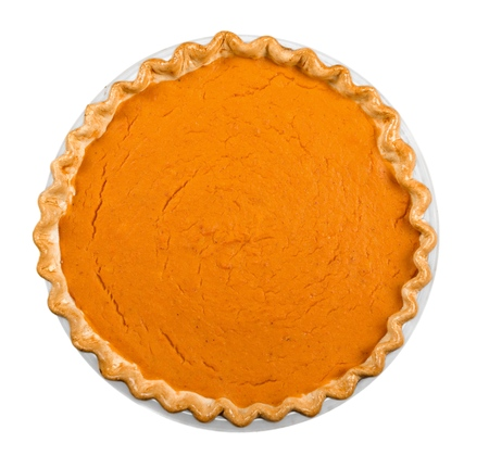 Pumpkin Pie from Above