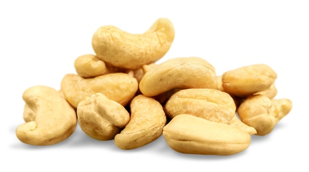 Roasted Cashew Nuts Isolated