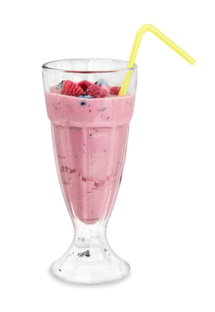 Berry Smoothie Isolated Stockfoto