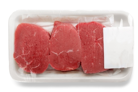 Packaged Meat Isolated