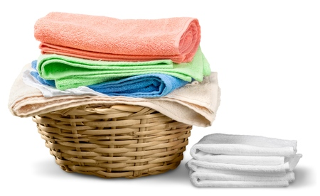 Basket of Clean Laundry Stockfoto