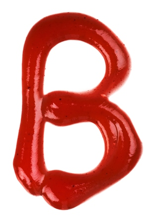 Ketchup B Letter Isolated