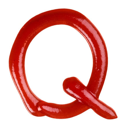 Ketchup Q Letter Isolated