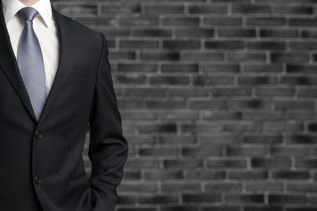 Confident business man wearing elegant suit