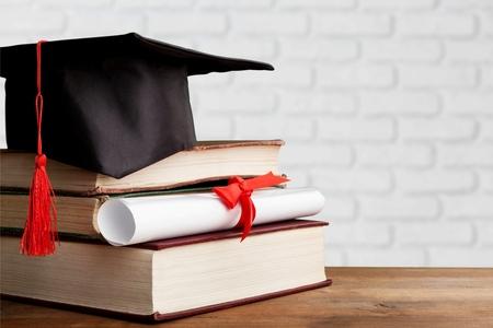 Concepto de conocimiento de educación de grado universitario académico Foto de archivo