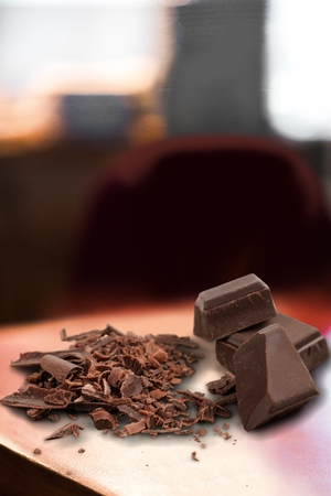 Milk Chocolate Blocks and Pieces Stock Photo