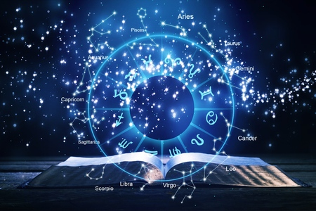 Horoscope Astrologie Zodiaque Horoscope Zodiaque Fortune Signe Mythe Symbole Étoiles, Traditionnel