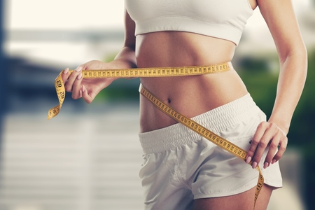 Weight loss, slim body, healthy lifestyle concept Foto de archivo