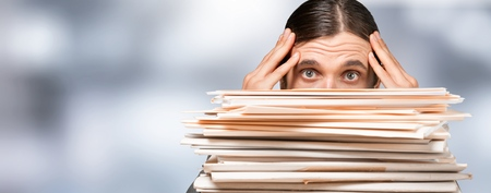 Work overload man Banco de Imagens