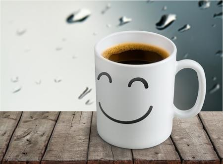 White ceramic coffee mug. Isolated on a white.