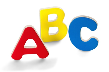 Foam ABC Letters Isolated