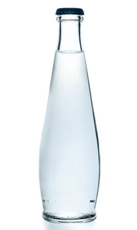 Glass Water Bottle on white background
