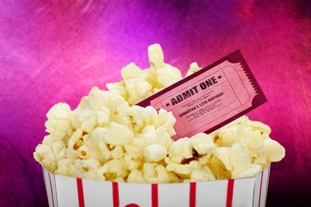 Movie Ticket with roast Popcorn