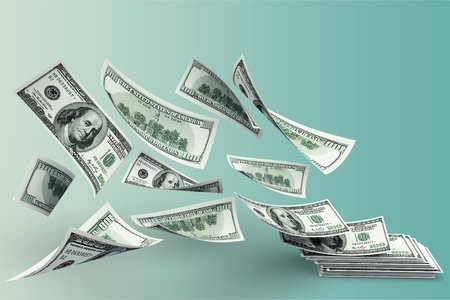 Floating Money Cashflow Standard-Bild - 108942659