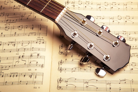 Photo Of Violin And Musical Notes Stock Photo