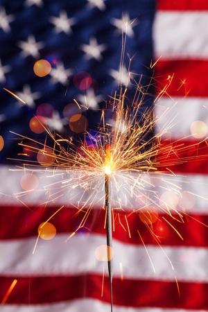 Fourth of july sparkler pyrotechnics july patriotism