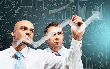 Portrait of two businessmen working together Reklamní fotografie