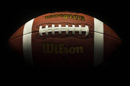 American football on black Editorial