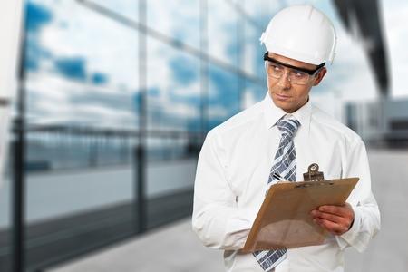 Construction Inspector Safety Glasses Stok Fotoğraf