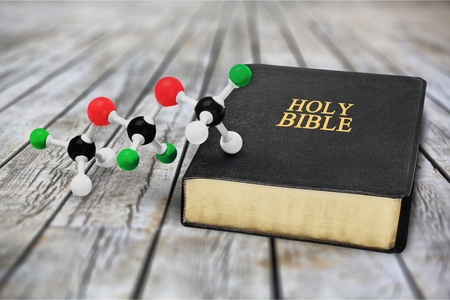 Science and Faith Stock Photo