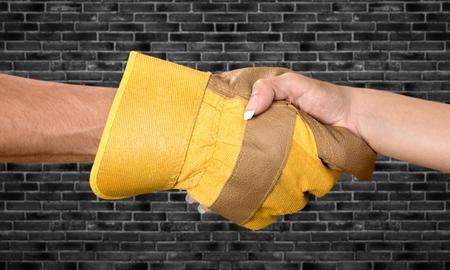 Handshake: One Hand with Work Glove
