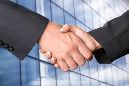 Business Handshake concept Stock Photo