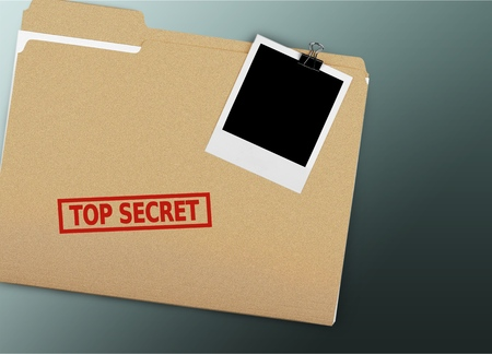 Folder with the words Top Secret stamped