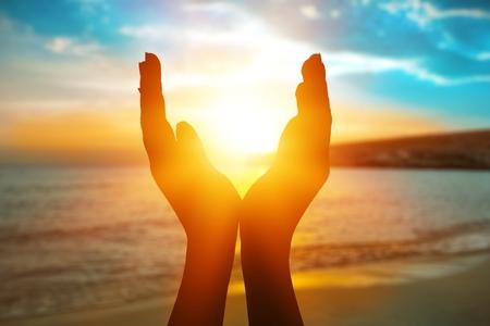 Summer sun solstice concept Standard-Bild