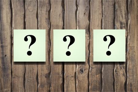 Question mark on alphabet block