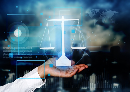 Justice concept law advocate attorney authority balance Stock Photo