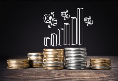 Interest rate up fed chart mortgage business Standard-Bild - 124596218