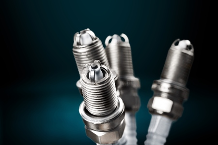 Ignition spark plug with platinum electrode. Automotive