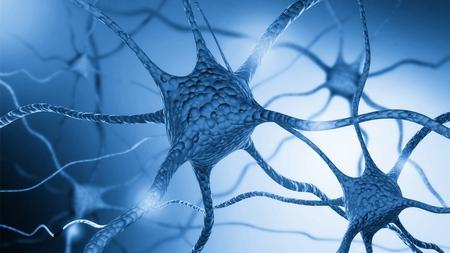 Neurons cells close up 版權商用圖片 - 124558598