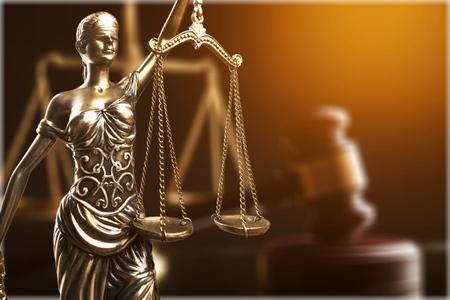 Concepto de ley o justicia Foto de archivo