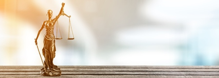 The Statue of Justice - lady justice Stock Photo