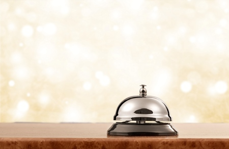 Vintage Hotel Rezeption Service Desk Glocke.
