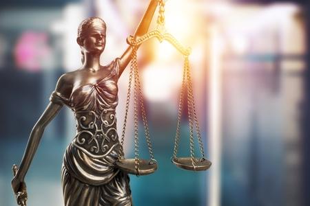 Konzept von Recht und Gerechtigkeit