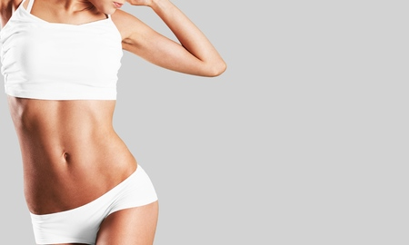 Intime Frau ästhetische Bauch Schönheit Bauch Körper Standard-Bild